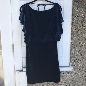Jessica Simpson velvet mini dress Navy Sz 10